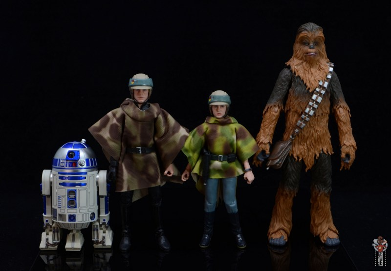 star wars the black series princess leia endor figure review - scale with r2-d2, luke skywalker and chewbacca