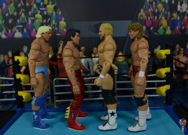 wwe elite series 81 stunning steve austin figure review - facing ric flair, ricky steamboat and flyin brian
