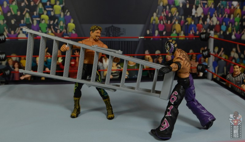 wwe legends series 8 eddie guerrero figure review - attacking rey mysterio with a ladder