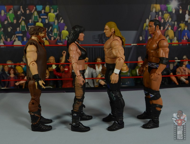 wwe triple h and chyna figure set review - facing mankind and the rock