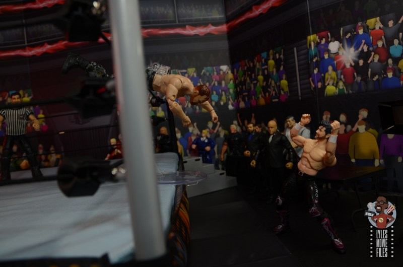 aew unrivaled jon moxley figure review - dive onto kenny omega