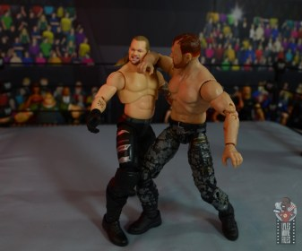 aew unrivaled jon moxley figure review - forearm smash to chris jericho