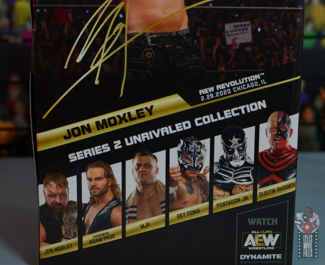 aew unrivaled jon moxley figure review - package stats