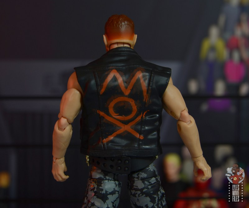 aew unrivaled jon moxley figure review - vest rear