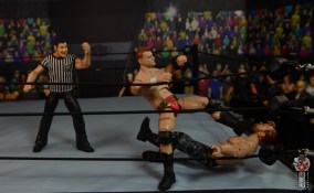 aew unrivaled mjf figure review -stomping moxley in corner