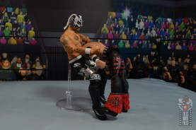 aew unrivaled rey fenix figure review - leaping ddt to johnny mundo2