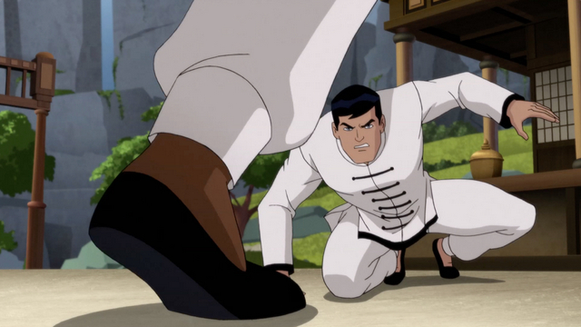 batman soul of the dragon review - Bruce Wayne fight