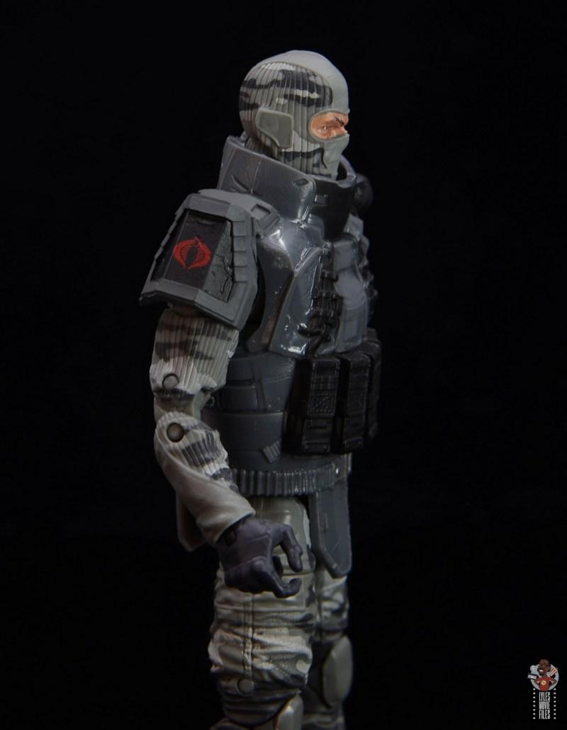 gi joe classified series firefly figure review - flak jacket right side detail