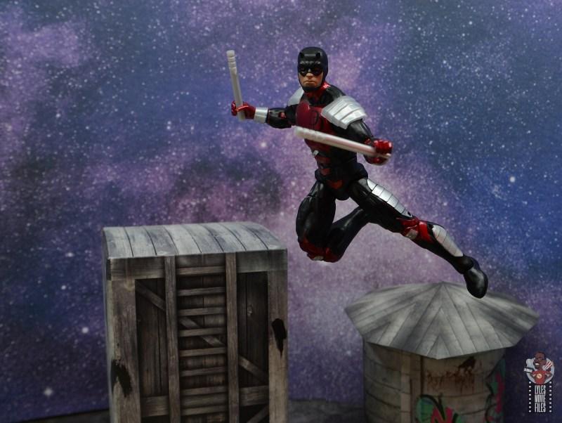 marvel legends retro vintage daredevil figure review - leaping