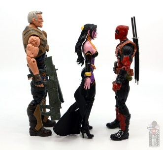 marvel legends shiklah figure review - facing cable and deapool