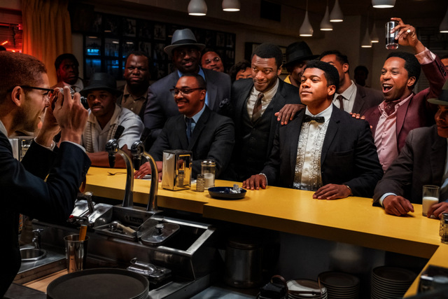 one night in miami review - malcolm x photographing cassius clay, jim brown and sam cooke