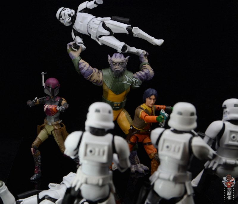 star wars the black series zeb orrelios figure review - throwing stormtroopers