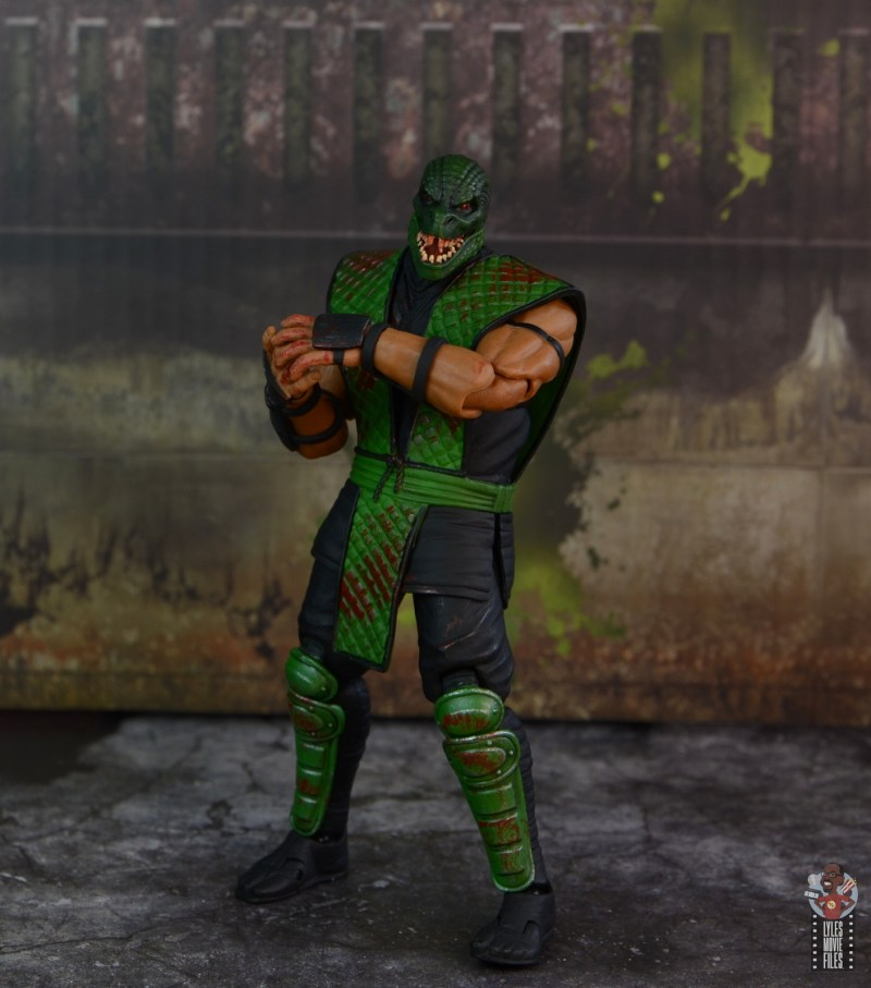 storm collectibles mortal kombat reptile figure review - in sewer