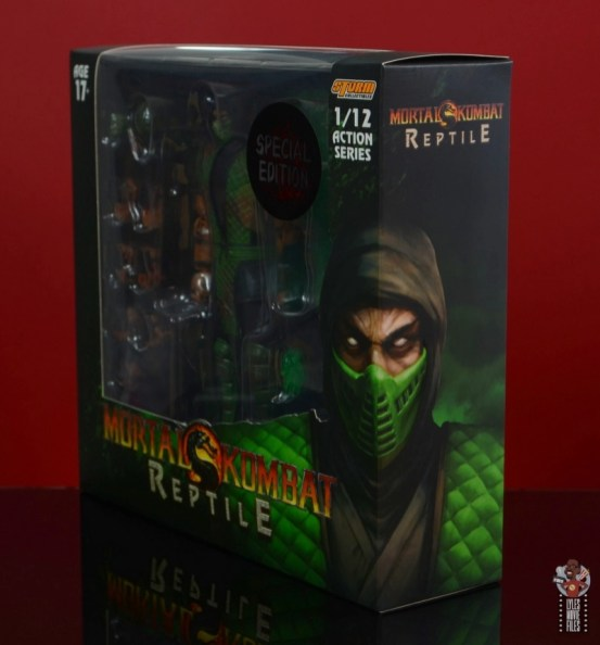 storm collectibles mortal kombat reptile figure review - package left side