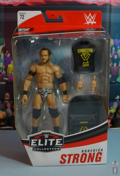 wwe elite 72 roderick strong figure review - package front