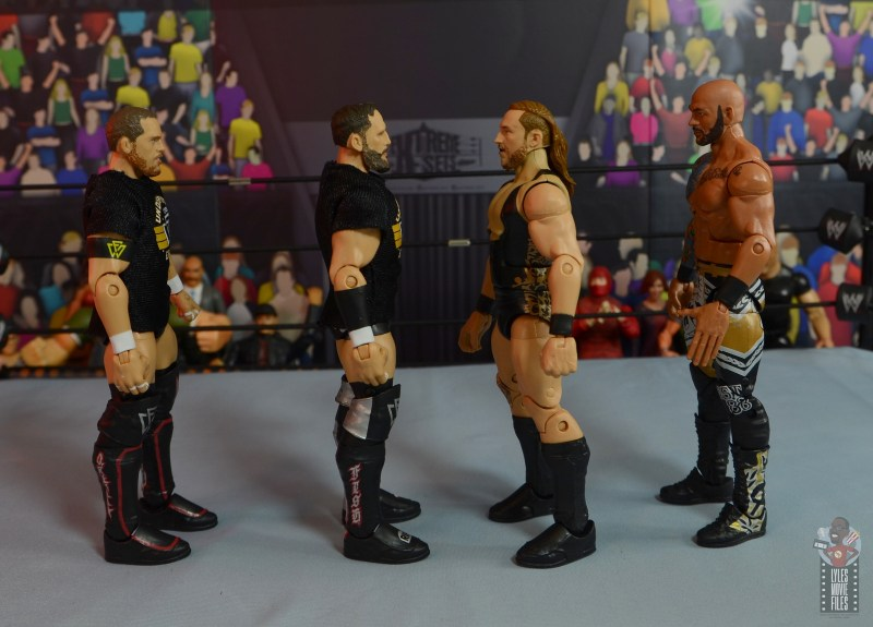 wwe elite 75 pete dunne figure review - facing kyle o'reilly, bobby fish and riccochet