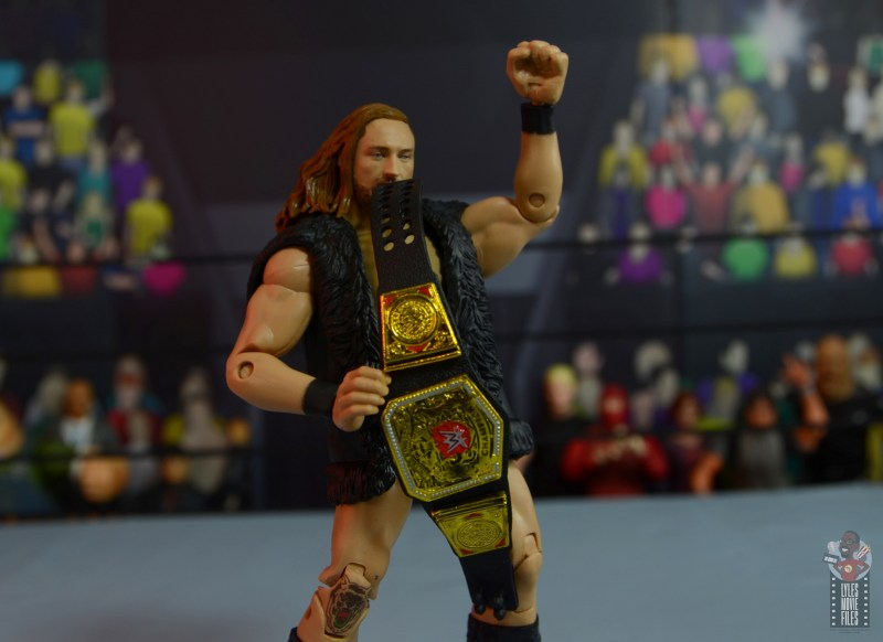 wwe elite 75 pete dunne figure review - with vest and nxt uk title
