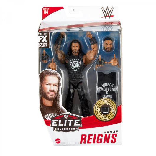 wwe elite 84 roman reigns - front package