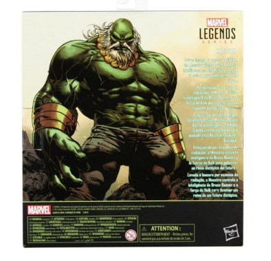 Marvel Legends Maestro Hulk - rear package