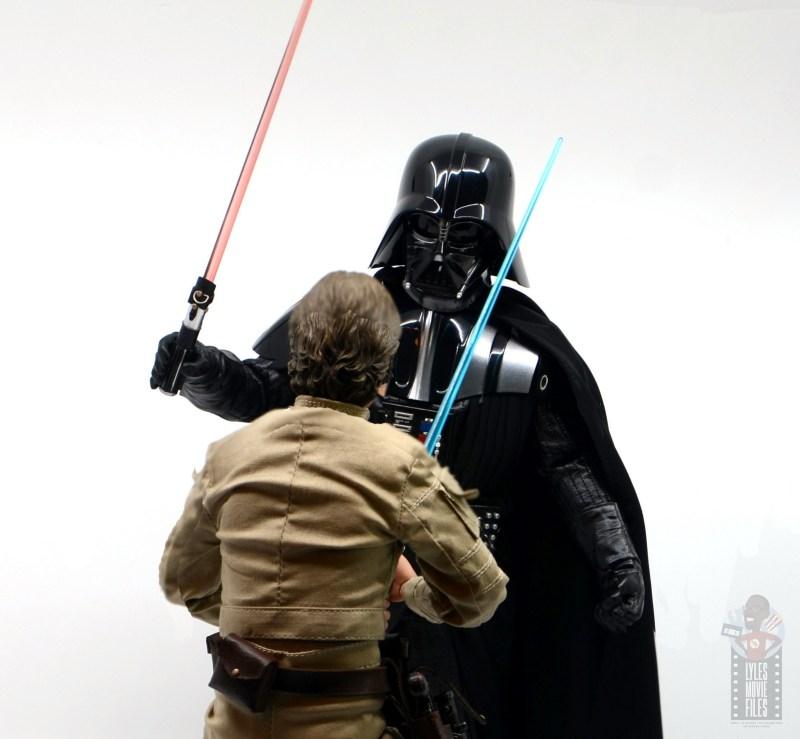 hot toys empire strikes back darth vader figure review - advancing on luke skywalker