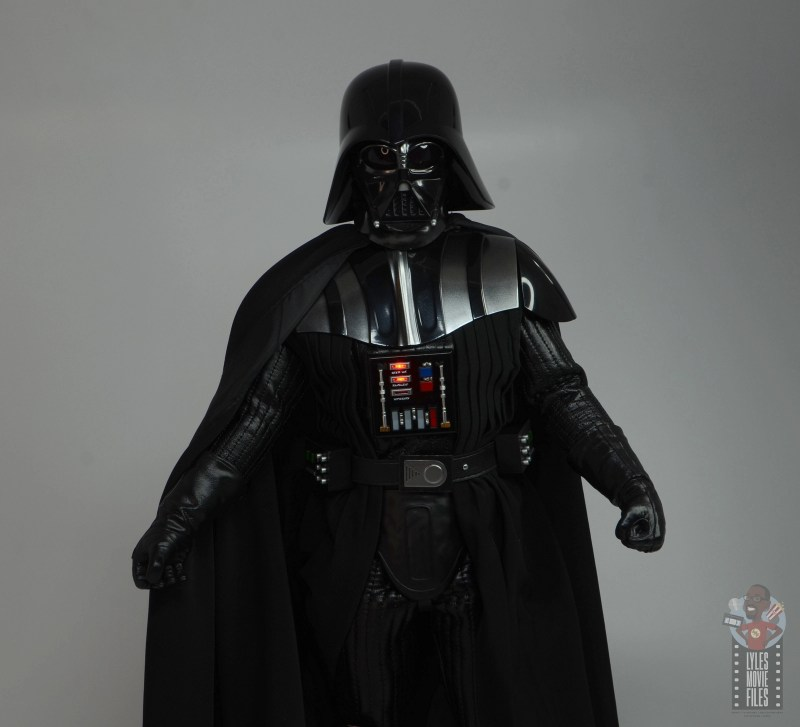 hot toys empire strikes back darth vader figure review - chest panel lit up