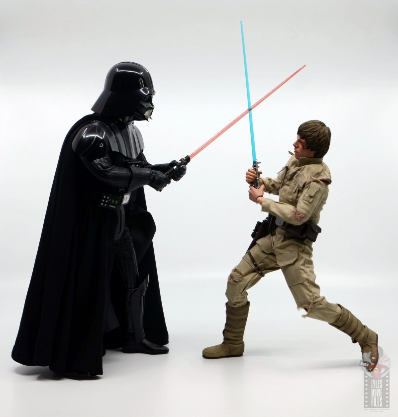 hot toys empire strikes back darth vader figure review - on the attack