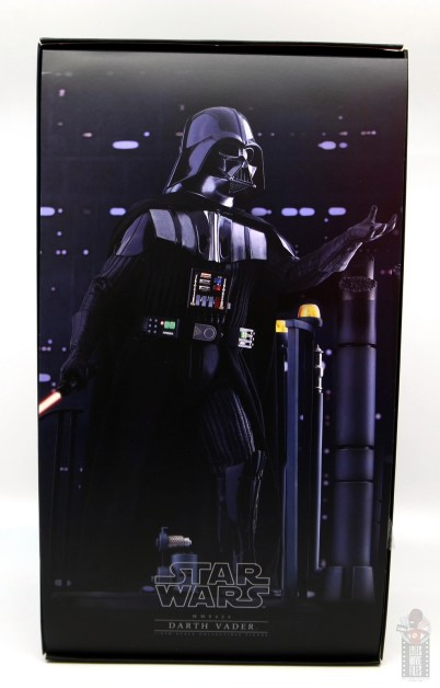 hot toys empire strikes back darth vader figure review - package insert art