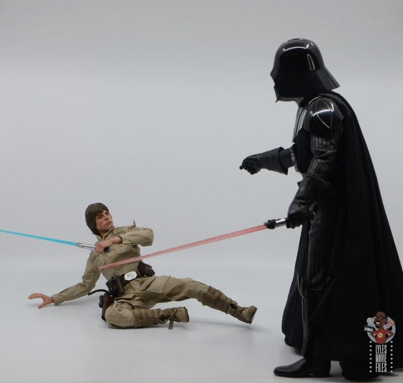 hot toys empire strikes back darth vader figure review - teasing luke