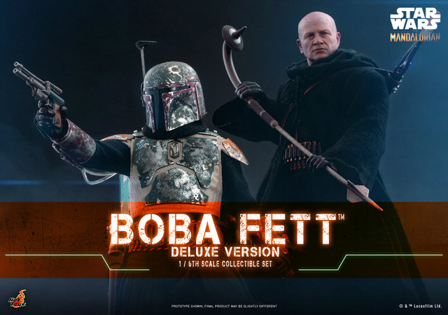 hot toys the mandalorian boba fett figure - armored and non armored look
