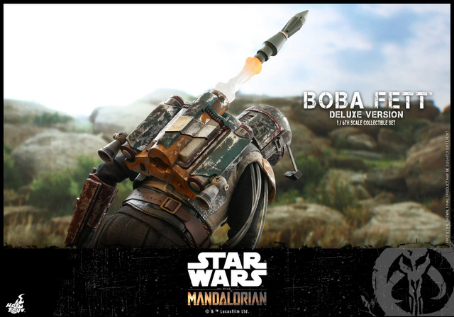 hot toys the mandalorian boba fett figure -launching rocket
