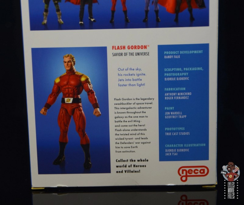 neca defenders of the earth flash gordon figure review - package bio