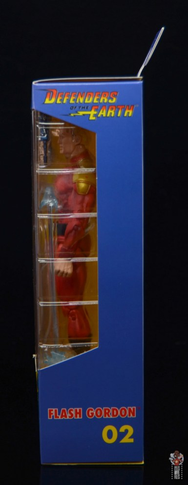 neca defenders of the earth flash gordon figure review - package side left