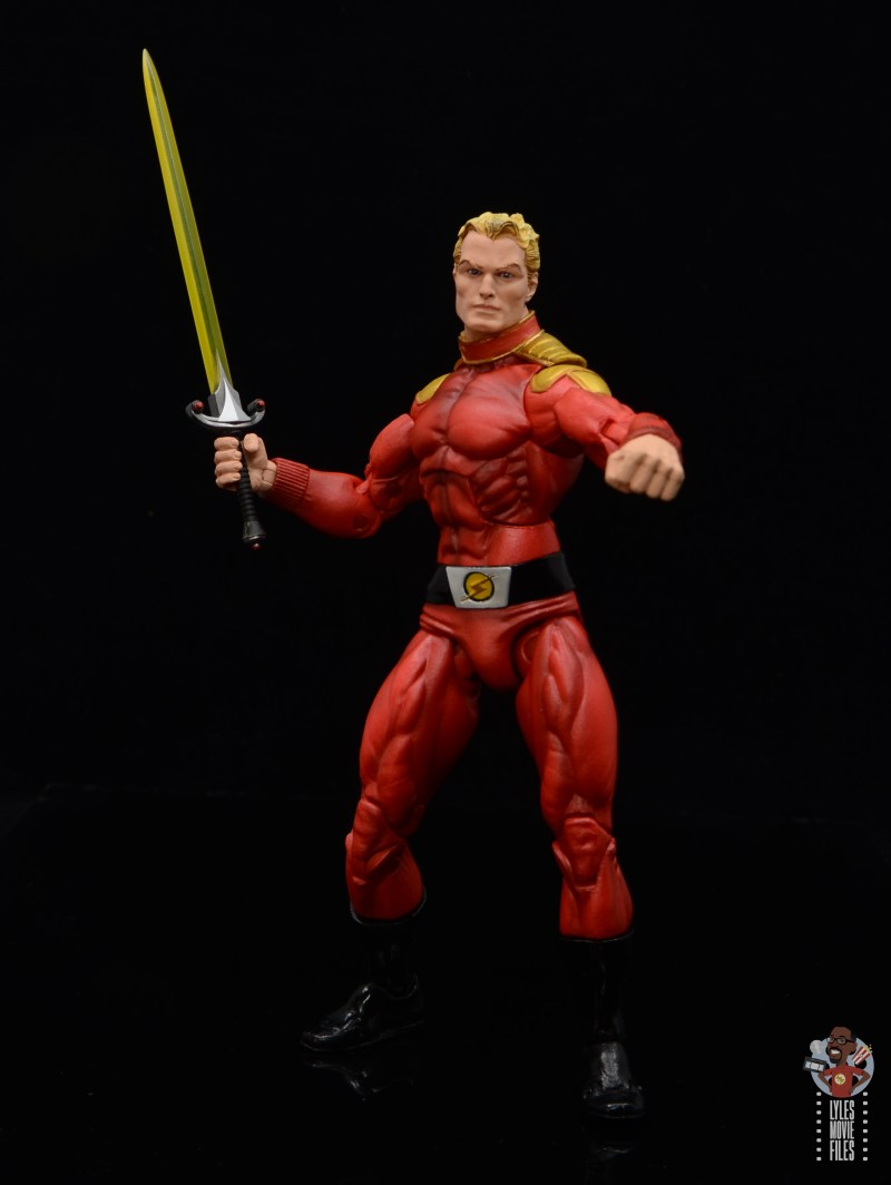 neca defenders of the earth flash gordon figure review - sword at the ready