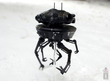 star wars the black series imperial probe droid figure review -emerging from the snow