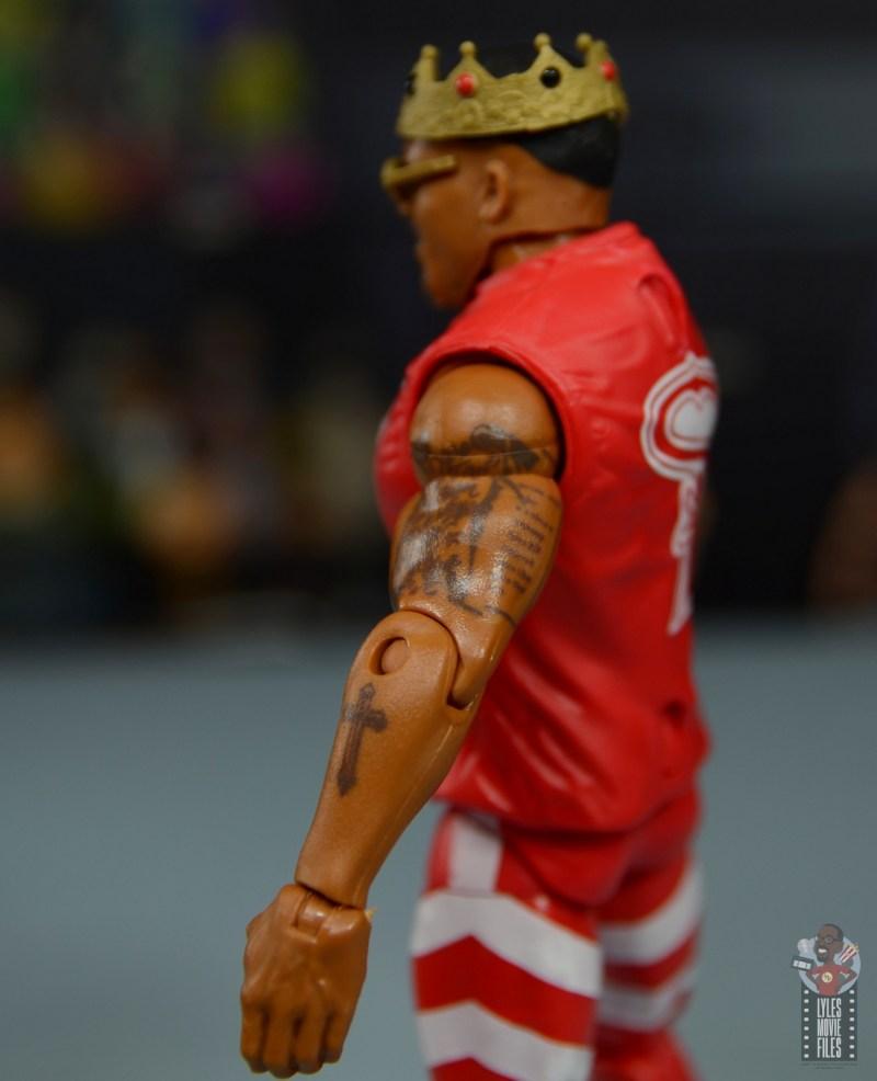 wwe elite 81 street profits figure review - motez ford tattoos close up