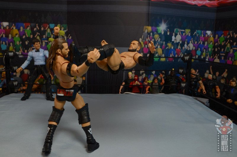 wwe elite 82 finn balor figure - shotgun dropkick to adam cole