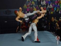 aew the young bucks figure review - powerbomb kick combo