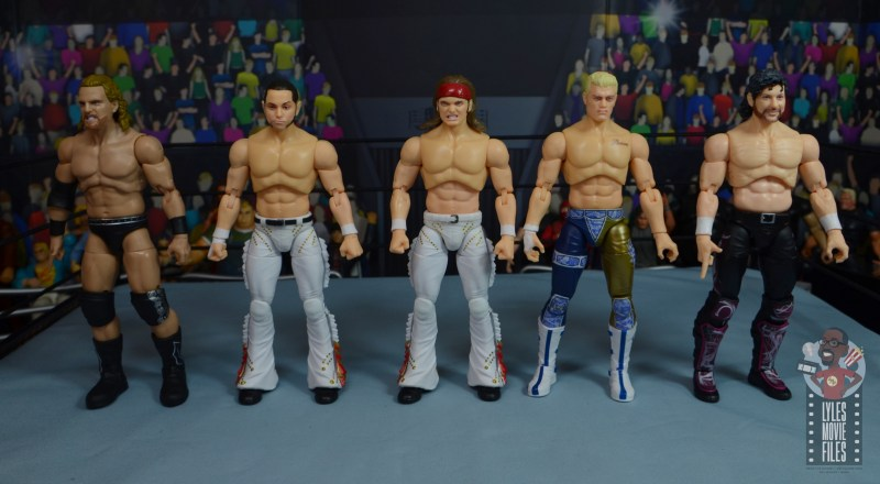 aew the young bucks figure review - scale with hangman page, cody rhodes and kenny omega
