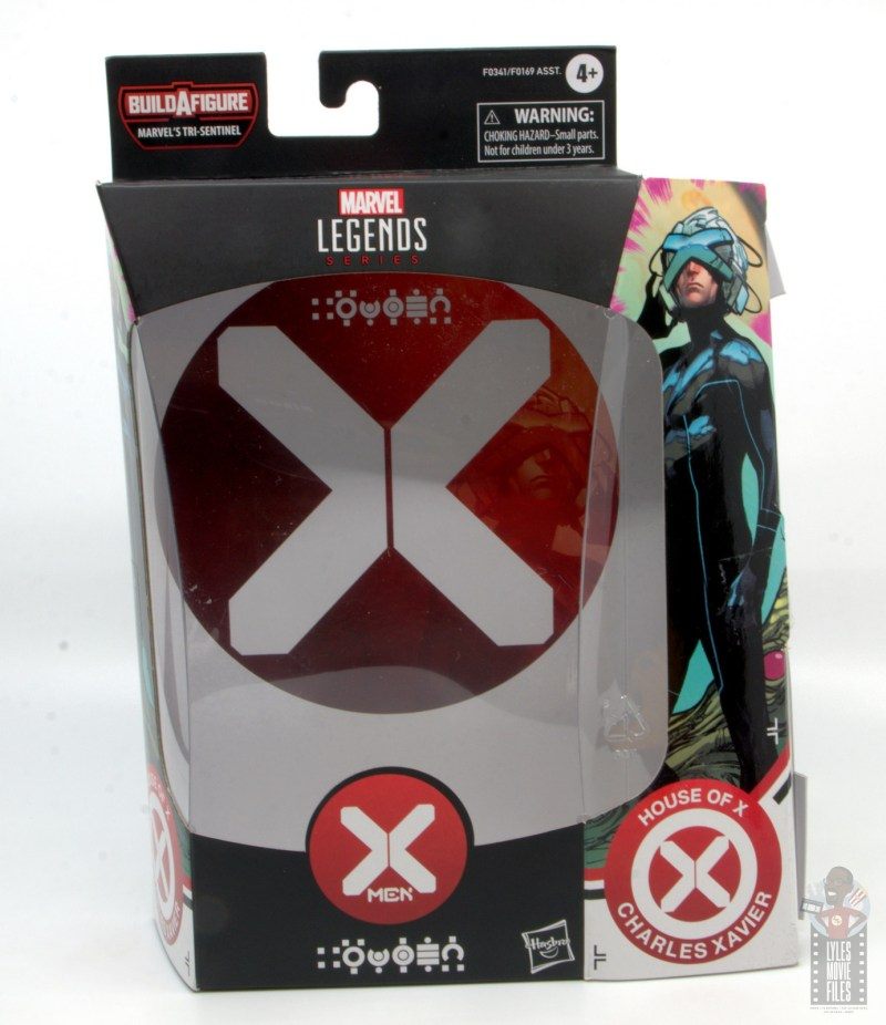 marvel legends house of x charles xavier figure review - package insert