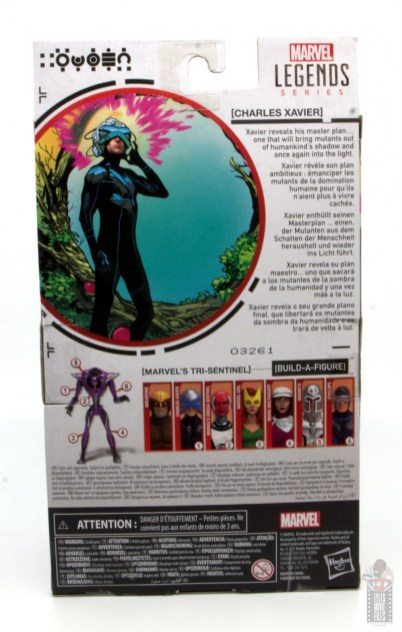 marvel legends house of x charles xavier figure review - package rear
