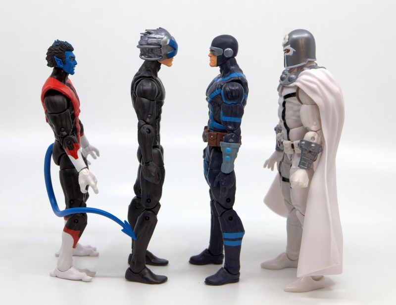 marvel legends house of x cyclops figure review - facing nightcrawler, charles xavier and magneto