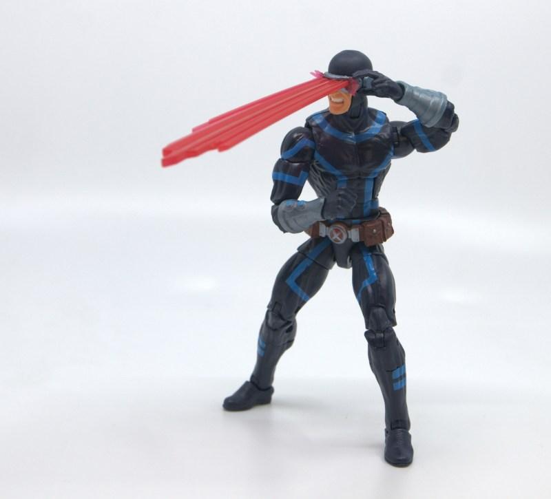 marvel legends house of x cyclops figure review - firing optic blast