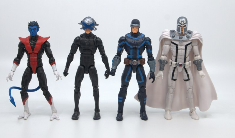 marvel legends house of x cyclops figure review - scale with nightcrawler, charles xavier and magneto