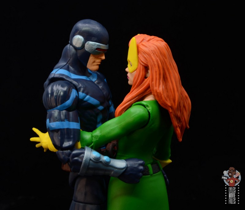 marvel legends house of x marvel girl figure review - close up with cyclops