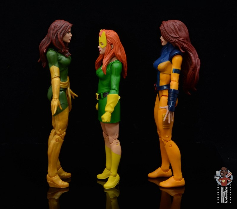 marvel legends house of x marvel girl figure review - facing phoenix and jean grey