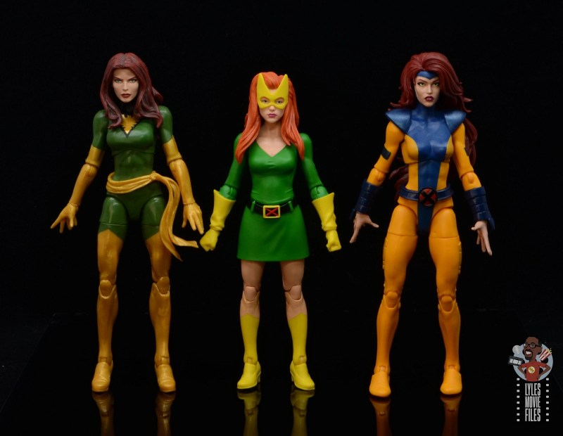 marvel legends house of x marvel girl figure review - scale with phoenix and jean grey