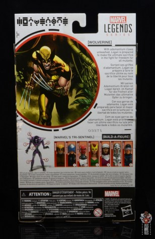 marvel legends house of x wolverine figure review - package rear
