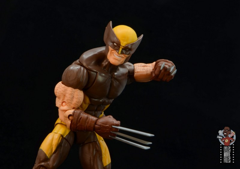 marvel legends house of x wolverine figure review - smiling head close up