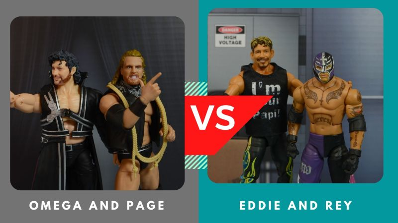 omega and page vs eddie and rey