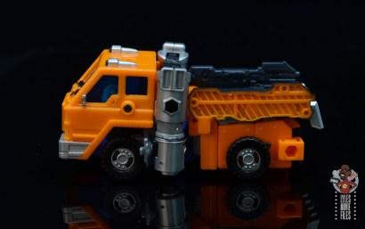 transformers kingdom war for cybertron huffer figure review - truck left side
